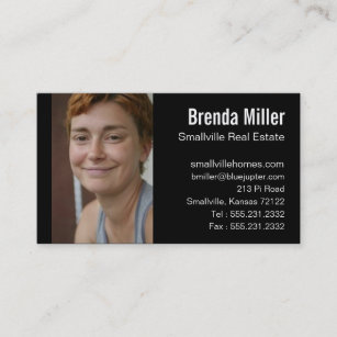 Custom Photo Real Estate Business Color Card