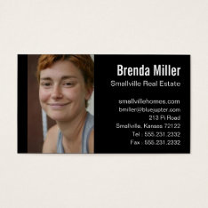 Custom Photo Real Estate Business Color Business Card at Zazzle