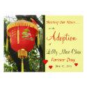 Custom Photo Red Lantern Adoption Announcement