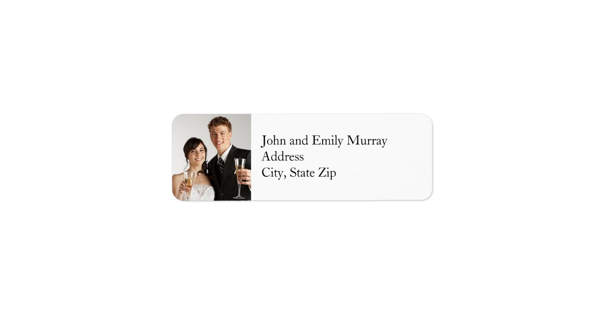 Custom Photo Return Address Labels  Zazzle