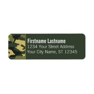 Address Labels Retired Army