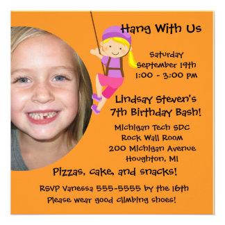 Custom Photo Rock Wall Birthday Invitation