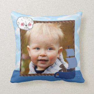 Custom Photo Sailing Chipmunk Accent Throw Pillow