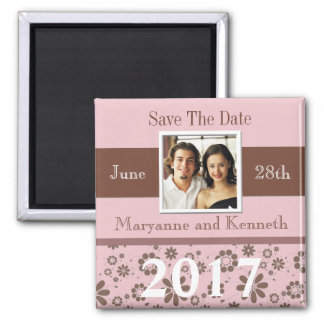 Custom Photo Save The Date Magnet Template 2017