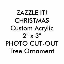 Custom Photo Sculpture Christmas Tree Ornament