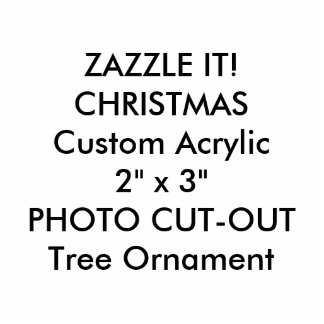 Custom Photo Sculpture Christmas Tree Ornament