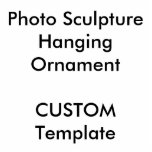 """Custom Photo Sculpture Hanging Ornament 2"""" x 3""""<br><div class=""""desc"""">Custom Photo Sculpture Hanging Ornament 2"""" x 3"""" Cutout (Cut-out),  acrylic cut out with a red ribbon. Personalized gifts for a birthday party,  Christmas,  celebration,  school for him (boys,  young boy,  kids,  son,  grandson,  friend).</div>"""