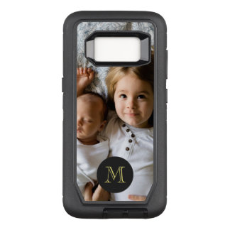 Custom Photo | Single Monogram OtterBox Defender Samsung Galaxy S8 Case