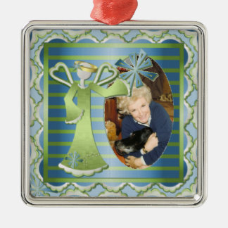 Custom Photo Snow Angel Christmas Ornament