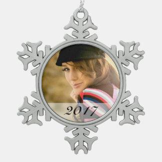 Custom Photo Snowflake Ornament