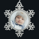"Custom Photo Snowflake Pewter Christmas Ornament<br><div class=""desc"">Create your own personalized photo gift by add your own photo,  from your beloved family photo to your adorable pet photo,  to make your design unique.