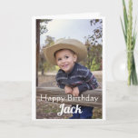 """Custom Photo. Son. Birthday. Card<br><div class=""""desc"""">Celebrate your Son's birthday,  with this custom card. Add a photo of your choice,  which will automatically fit into the place holder image. The include your Son's name too. Create an unique birthday card,  which will be cherished.</div>"""