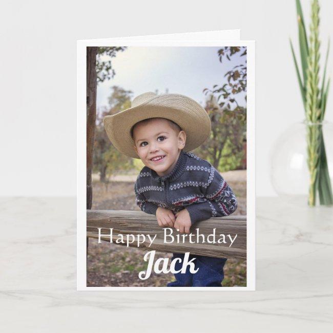Custom Photo. Son. Birthday. Card