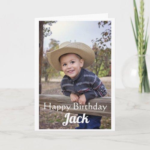 Custom Photo Son Birthday Card