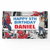 Custom Photo Spider-Man Birthday Banner