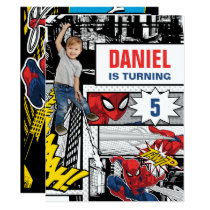 Custom Photo Spider-Man Birthday Invitation