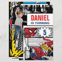 Custom Photo Spider-Man Birthday Invitation
