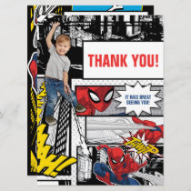 Custom Photo Spider-Man Thank You Card