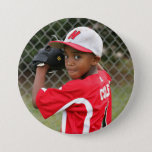 "Custom photo sports button / pin<br><div class=""desc"">Support your child&#39;s athletic endeavors with this custom sports pin. Available in a variety of sizes. Want their name added? We have that option available as a separate listing.</div>"