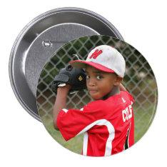 Custom photo sports button / pin at Zazzle