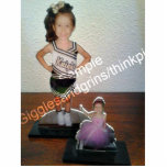 "Custom Photo Statue Sculptures with your picture!<br><div class=""desc"">Simply replace the example photo with a regular photo of you, your sports star, your pet etc. and it will be cut out &amp; cropped into a photo sculpture like the example. Now you can have a little statue of your super star! Add your photo and turn it into a...</div>"