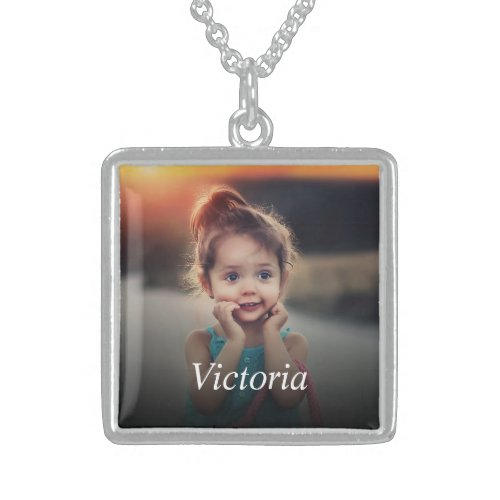 Custom Photo Sterling Silver Necklace
