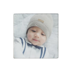 Custom Photo Stone Magnet at Zazzle