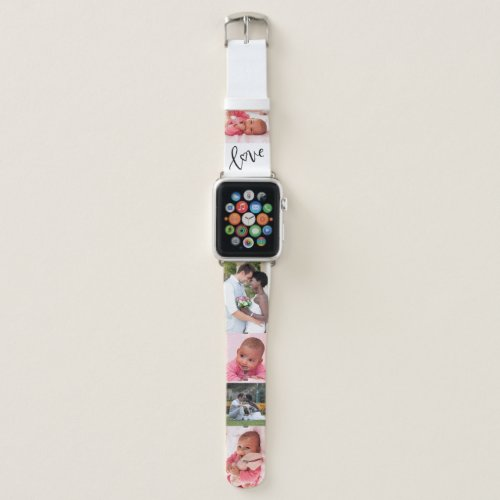 Custom Photo Strip with Love Apple Watch Band