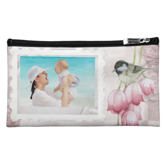 Custom Photo Suede Cosmetic Bag for Mom