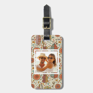 Custom Photo Summer floral pattern made of leaves Luggage Tag