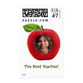 Custom Photo & Text Apple Face Stamps