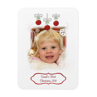Custom Photo & Text Baby's 1st Christmas Magnet