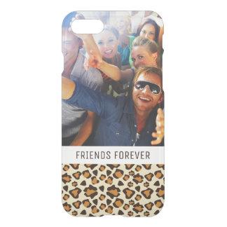 Custom Photo & Text Cheetah skin pattern iPhone 7 Case