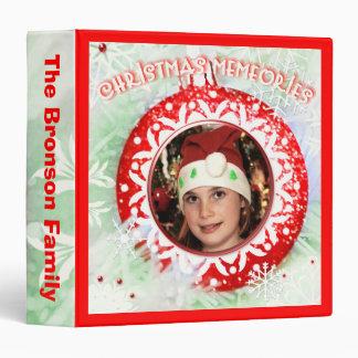 Custom Photo Text Christmas Ornament Binder