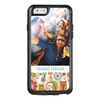 Custom Photo & Text Color Floral And Owl Otterbox Iphone 6/6s Case by boutiquey at Zazzle
