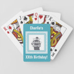 "CUSTOM PHOTO, TEXT &amp; COLOR playing cards<br><div class=""desc"">Change the image and the text fields to what you want. Using the ""customize it"" function,  you can change the background color of this item if you wish. See my store for more items with this design.</div>"