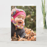 """Custom Photo Text Design Your Own Folded Greeting Card<br><div class=""""desc"""">Custom photo and text greeting card featuring 3/three pictures template. Easily customize with your favorite images,  personal message and design your own folded greeting card today.</div>"""