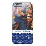 Custom Photo & Text Fun Anchor Pattern Barely There iPhone 6 Case
