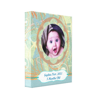 Custom Photo & Text Keepsake Wrapped Canvas Canvas Print