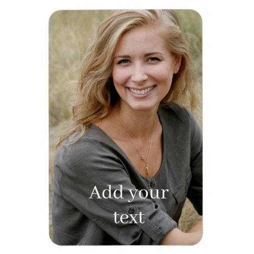 Custom Photo & Text. Magnet
