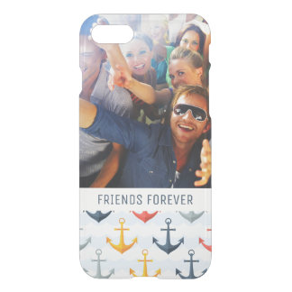 Custom Photo & Text Nautical Pattern with Anchors iPhone 8/7 Case