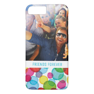 Custom Photo & Text Round bubbles kids pattern 2 iPhone 7 Plus Case