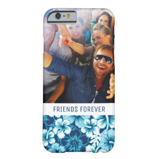 Custom Photo & Text Surf Floral Hibiscus Pattern Barely There iPhone 6 Case