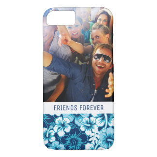 Custom Photo & Text Surf Floral Hibiscus Pattern iPhone 8/7 Case