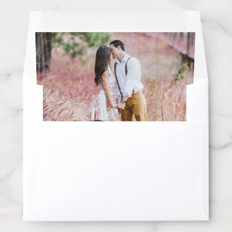 Custom Photo Wedding Engagement Modern One Picture Envelope Liner
