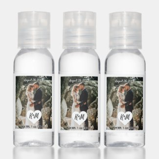 Custom Photo Wedding Hand Sanitizer