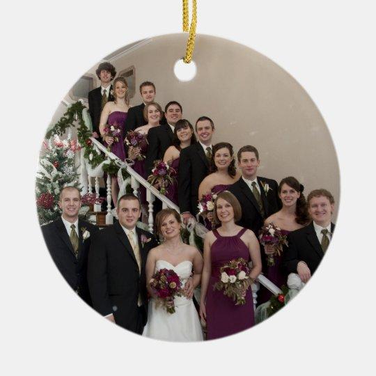 Custom Photo Wedding Party Memory  Ornament