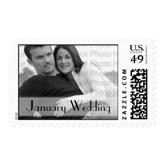 Custom Photo Wedding Postage January Wedding