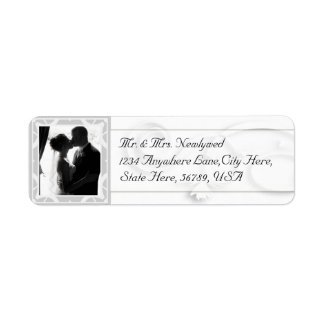 Custom  Photo Wedding Return Address Labels