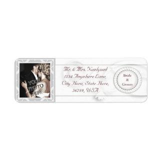 Custom Photo Wedding Return Address Labels